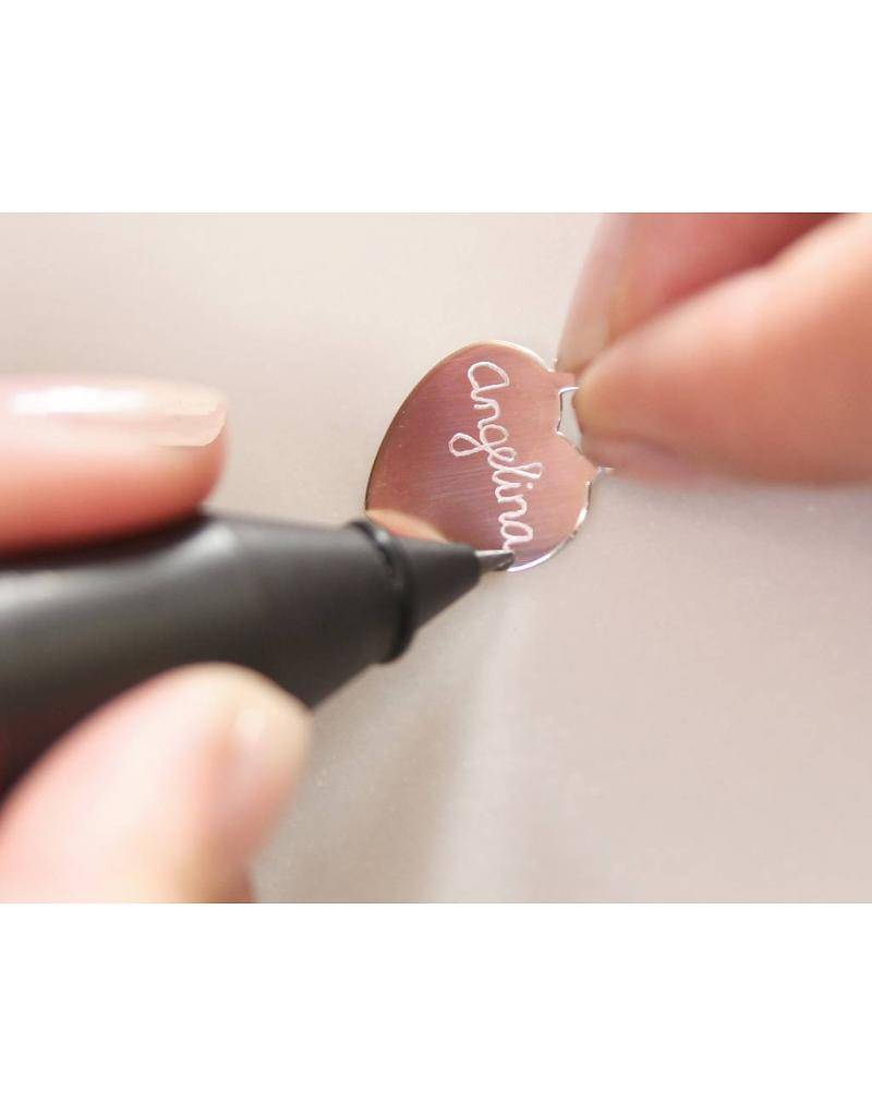 Engraved jewellery Birth Necklace 'Baby Feet' with engraving