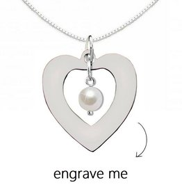 "silver jewellery Silver Necklace 'Forever by my Side ""with Crystal"