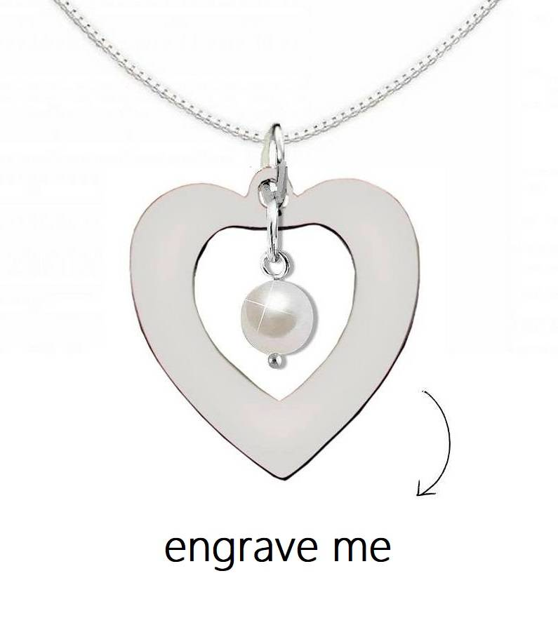 """silver jewellery Silver Necklace 'Forever by my Side """"with Crystal"""