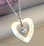 KAYA jewellery Silver Necklace 'Forever by my side' with Pearl