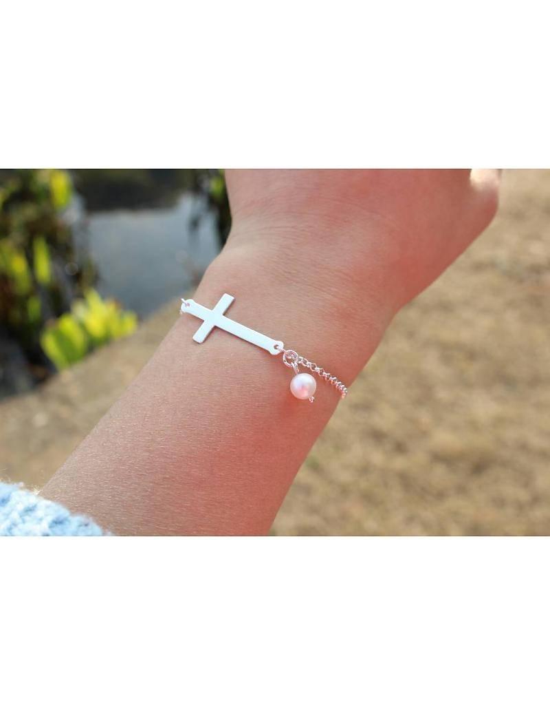"""KAYA jewellery Silver Bracelet """"Silver Cross"""" with Pearl"""