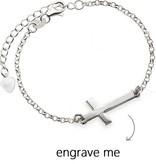 """KAYA jewellery Silver Bracelet """"Silver Cross"""""""