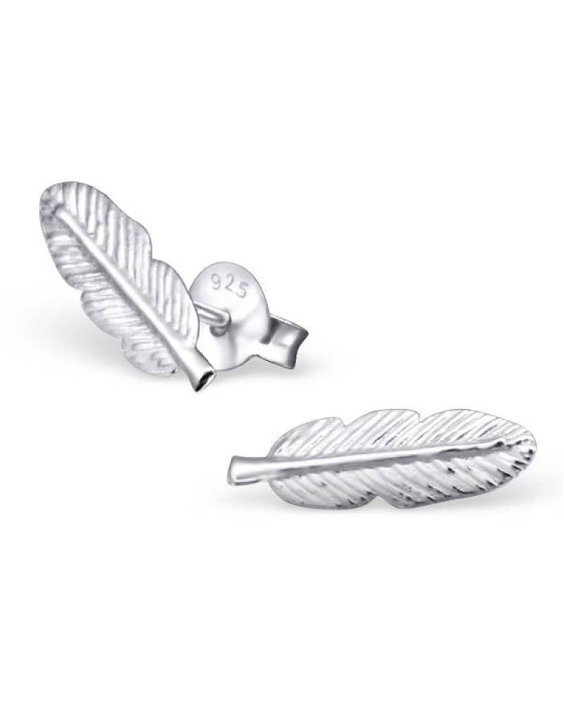 KAYA jewellery Kids Silver Earrings 'feathers'