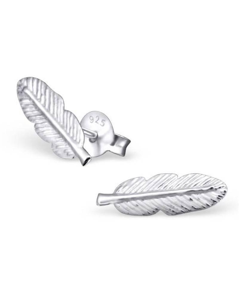 silver jewellery Kids Silver Earrings 'feathers'