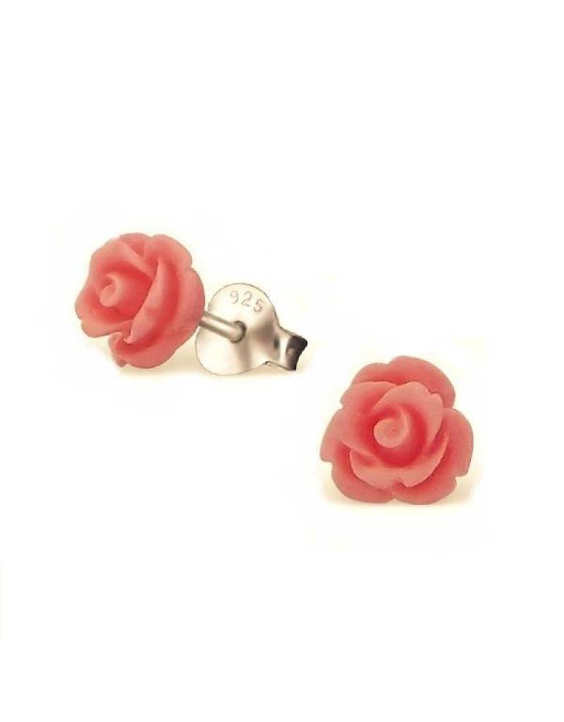 silver jewellery Children's Silver Ear Studs 'Cute Roses'