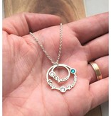 silver jewellery Birthstone Necklace Silver 'three circles'