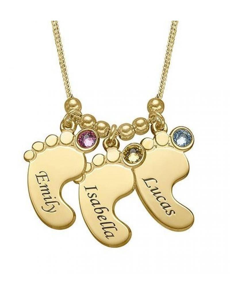 KAYA jewellery Birthstone Gold Necklace 'three children'