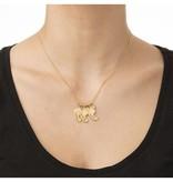 silver jewellery Birthstone Gold Necklace 'three children'