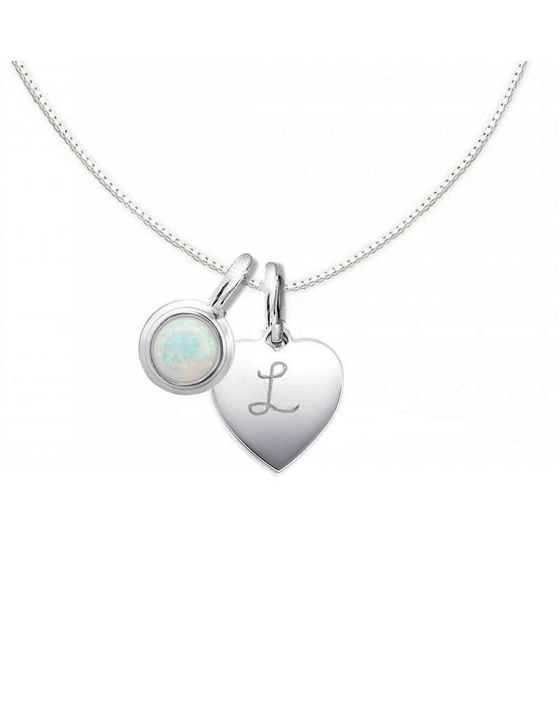 "KAYA jewellery Silver Necklace ""Moondance Opal 'Heart 10x12mm"