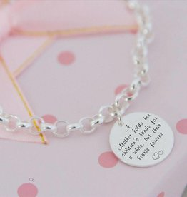 Engraved jewellery Silver Chain 'Mint' Mother
