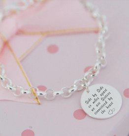 Engraved jewellery Silver Chain 'Mint' sister love