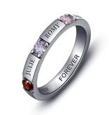 KAYA jewellery Birthstone ring '4 names'