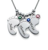 KAYA jewellery Birthstone necklace 'baby foot'