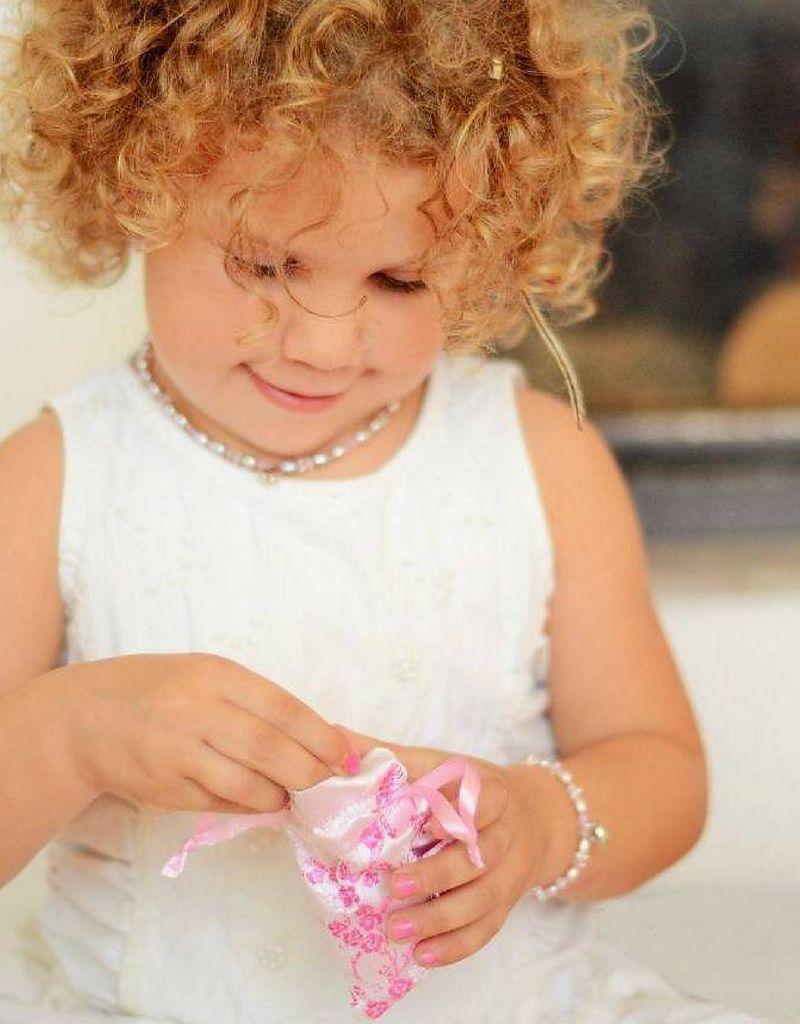KAYA jewellery Silver childeren's necklace 'engrave disc & teddy bear'