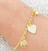 KAYA jewellery Gold plated bracelet 'tree of life'
