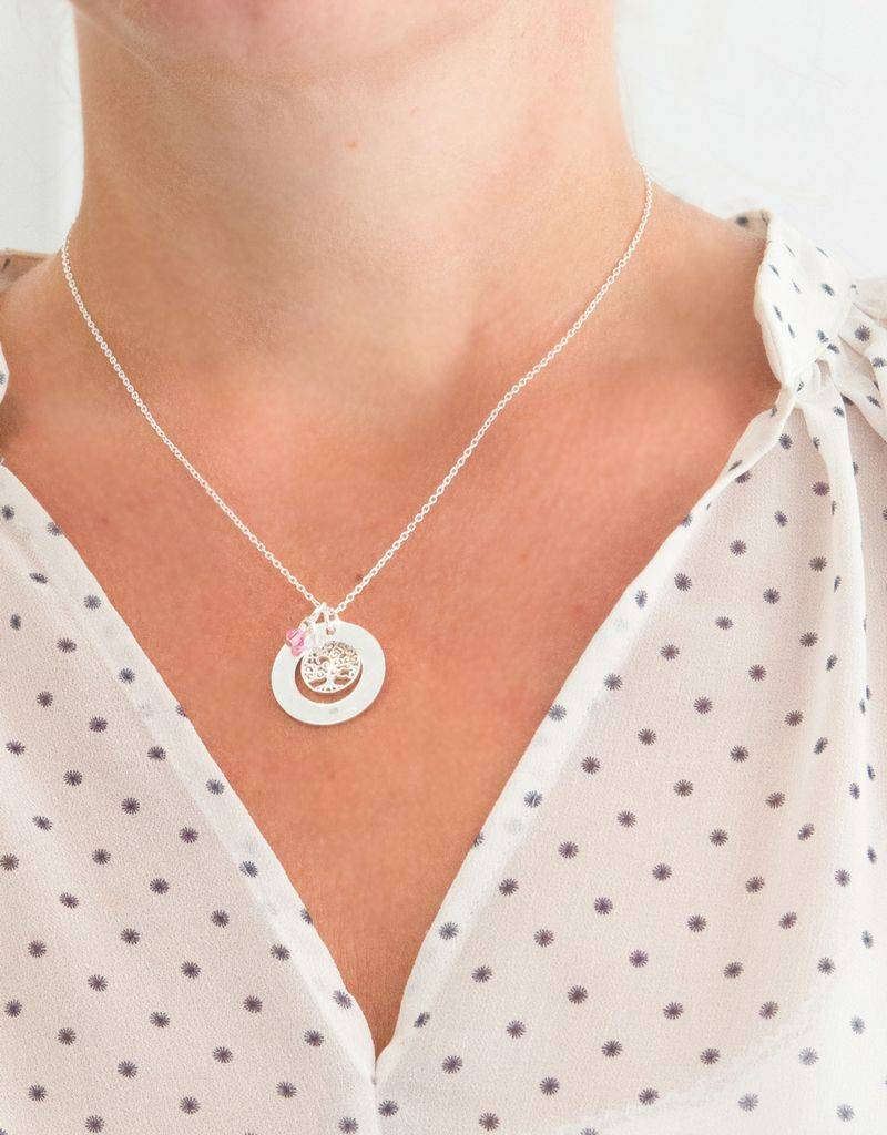 KAYA jewellery Personalized silver necklace 'family tree'