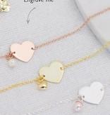 KAYA jewellery Three generation bracelets 'memory' pearl & personalised charm