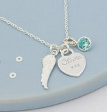 KAYA jewellery Personalized necklace 'angel wings'