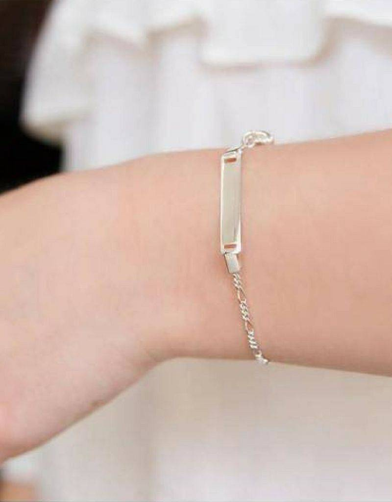 KAYA jewellery Baptism Bracelet 'Cute' with Engraving and Cross Charm