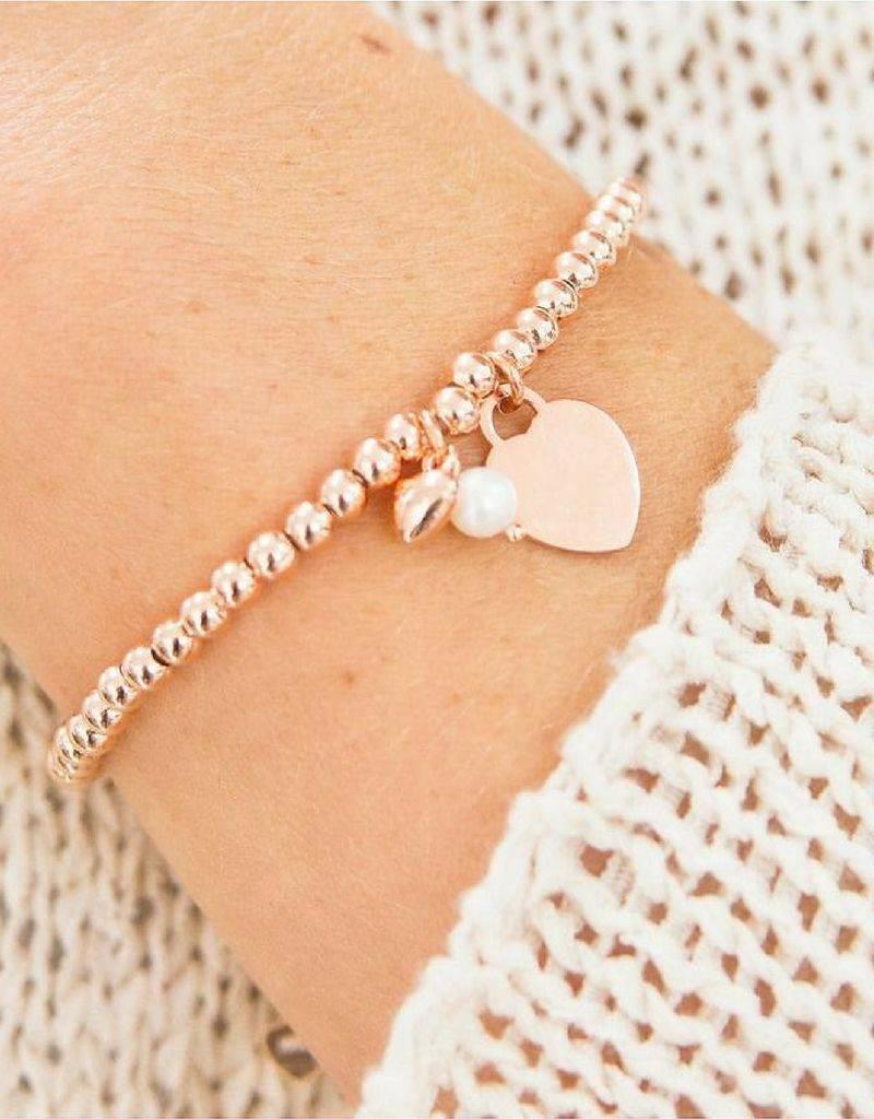 KAYA jewellery Silver bracelet 'Cute Balls' Heart & Pearl