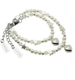 KAYA jewellery Mom & Me bracelets 'White Star' with heart