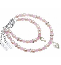 KAYA jewellery Mum & Me Bracelet 'Infinity Pink' with Key to my Heart