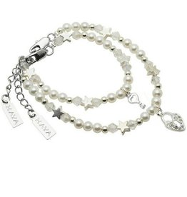 KAYA jewellery Mum & Me Bracelet 'Infinity White' with Key to my Heart