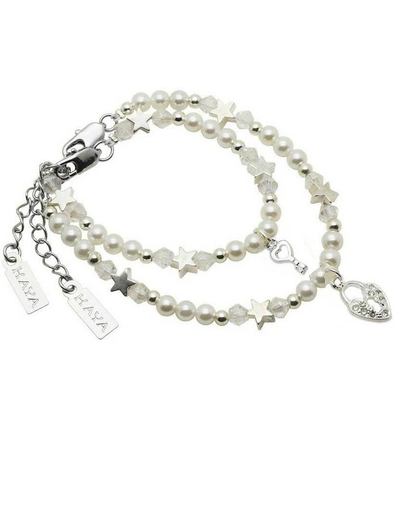 KAYA jewellery Key to my Heart Mum & Me Bracelet 'Infinity White'