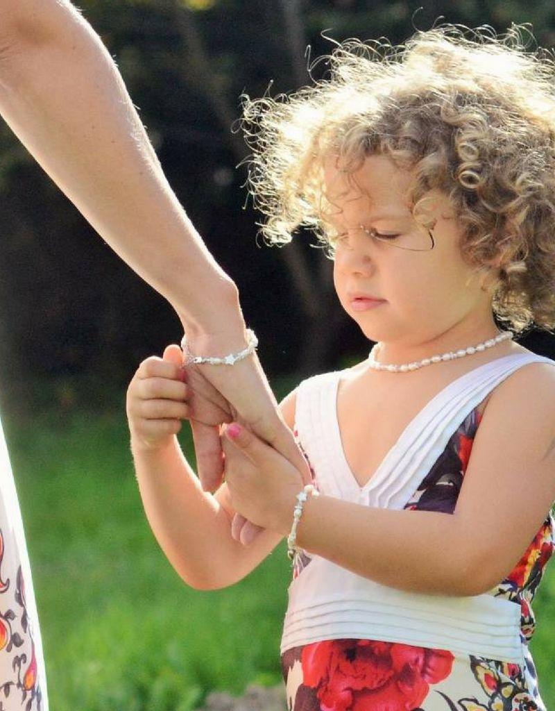 KAYA jewellery Key to my Heart Mum & Me Bracelet 'Star White'
