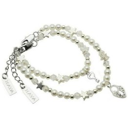 KAYA jewellery Mum & Me Bracelet 'Star White' with Key to my Heart