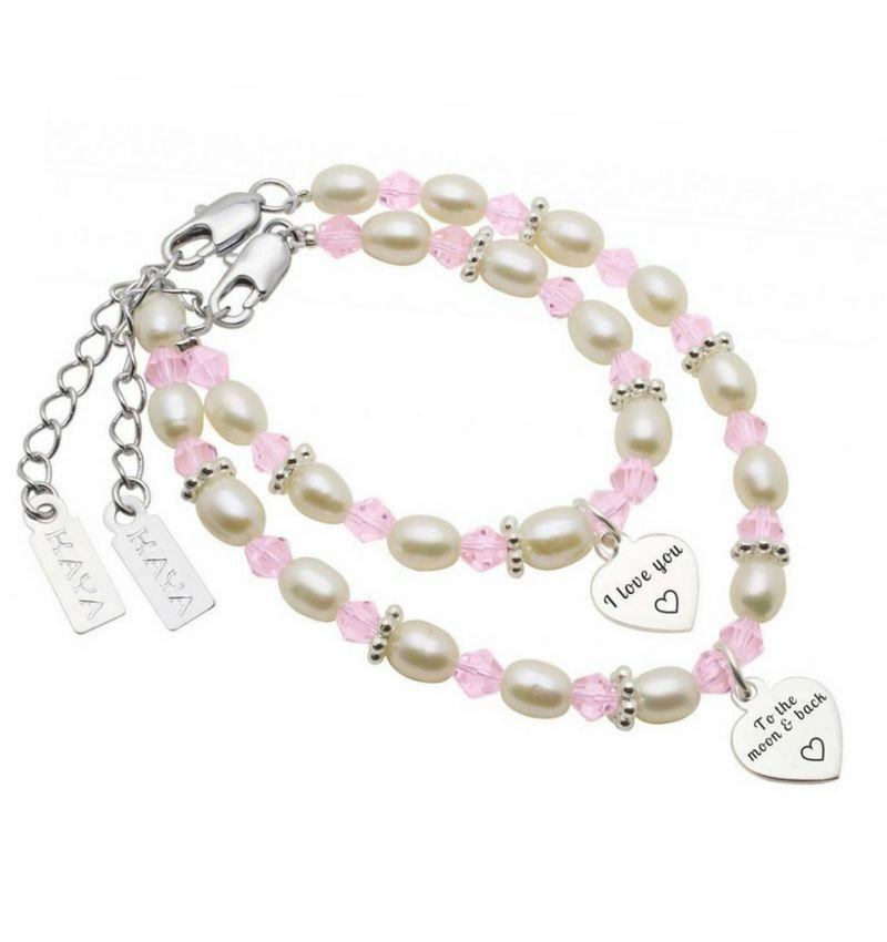 KAYA jewellery Mom & me set 'I love you ♡ - to the moon & back ♡'