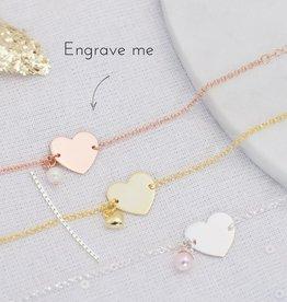 KAYA jewellery Sterling silver bracelet 'memory' pearl & personalised charm