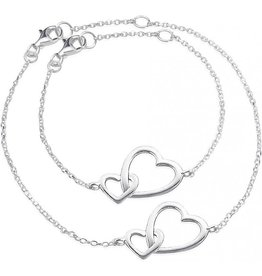 KAYA jewellery Silver Mum & Me Bracelets set 'Connected'