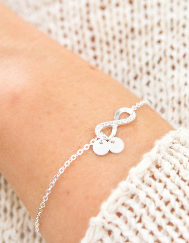 KAYA jewellery Infinity Silver Bracelet 'Initials'