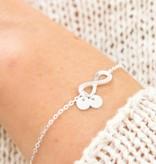 "KAYA jewellery Silver Infinity Mum Bracelet ""Two Initials"""