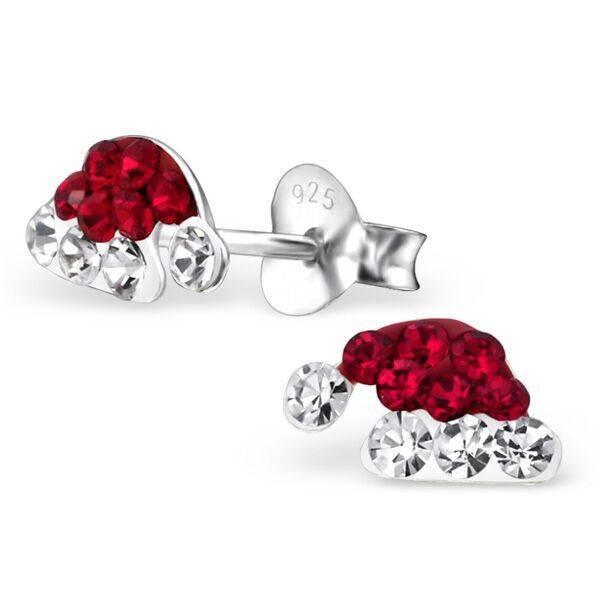 KAYA jewellery 'Santa Hat With Crystals' Earrings