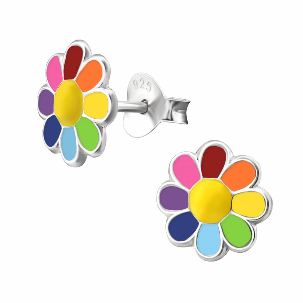 KAYA jewellery 'Coloful Flower' Stud Earring