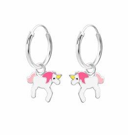 KAYA jewellery 'Silver Pink Unicorn' Earrings