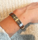 KAYA jewellery Personalized stainless steel bracelet 'cool gray'