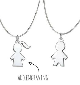 KAYA jewellery Silver necklace 'boy or girl'