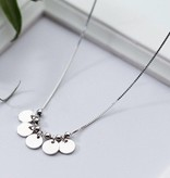 KAYA jewellery Silver necklace with engraving '5 discs'