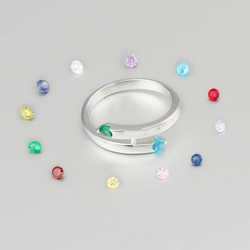 KAYA jewellery Ring with 2 birthstones 'Lovely'