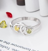 KAYA jewellery Ring with 2 birthstones 'Kind Heart'