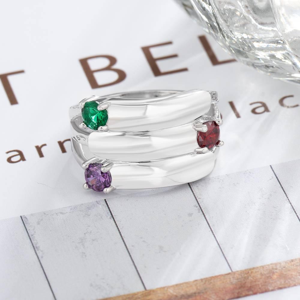 KAYA jewellery Ring with 3 birthstones 'Glamour'