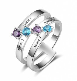 KAYA jewellery Classy birthstone ring 'Gorgeous'