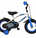 2Cycle Jongensfiets 12 inch Speed blauw-wit (1230)