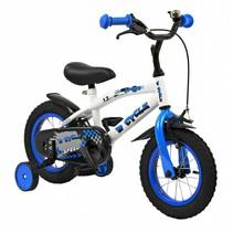 Kinderfiets 12 inch Speed Blauw-wit
