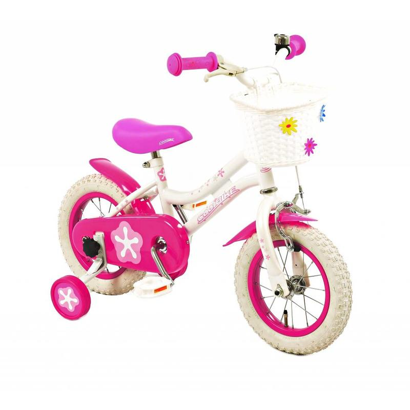 2Cycle Meisjesfiets 12 inch Coolbike wit-roze (1286)