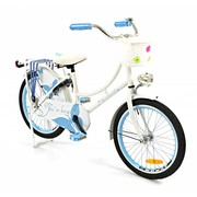 2Cycle Kinderfiets 20 inch Oma Vlinder wit-blauw