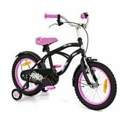 2Cycle Kinderfiets 16 inch Cruiser Zwart-Roze